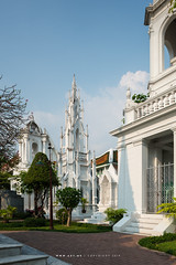 Royal Cemetery, Wat Ratchabophit (aey.somsawat) Tags: architecture bangkok buddhism buddhisttemple gothic royalcemetery temple thaiarchitecture thailand tiltshift wat watratchabophit westernthaiarchitecture