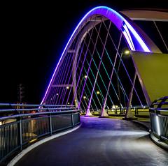 Prince Memorial Lighting Lowry Avenue Bridge 2 - Minneapolis, MN (j-rye) Tags: lowrybridge minneapolis night lights sonyalpha sonya7rm2 ilce7rm2 mirrorless