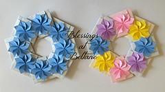 Beltane Blessings (Squatbetty) Tags: origami iphone5s designedbymichietakayama flowergarland flowers beltane mayday springflowers modularorigami prayertothemayqueen