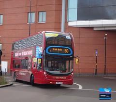 SN15LHC - Moor Street Queensway, Birmingham, November 2015. (Iveco 59-12) Tags: nationalexpresswestmidlands nxwm westmidlandstravel travelwestmidlands alexanderdennis enviro400mmc sn15lhc 6133
