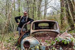 37-Pose de vainqueur (Alain COSTE) Tags: 2019 forêt hautevienne lavarache limousin nikon ocb printemps randonnée eymoutiers france
