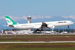 Mahan Air Airbus A340-600 EP-MMR | Milano - Malpensa (MXP-LIMC) | 1st May 2019 (Brando Magnani) Tags: 4engines landing malpensa aircraft airplane aviation airbusa340 airbus mahanair