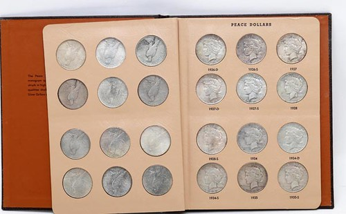 Complete Set of Peace Dollars in Book ($560.00)