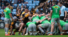 Nathan Hughes has a smile on his face the whole game (davidhowlett) Tags: ricoharena quins wasps premiership waspsrugby gallagher rugbyunion ricoh rugby coventry harlequins