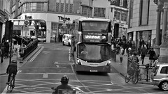 Brighton & Hove Bus 821 at Clock Tower, Brighton (ManOfYorkshire) Tags: bh brightonhove bus whitehawk route1a wright streetdeck lowheight branded 2door clocktower brighton citycentre bw sk16gxd