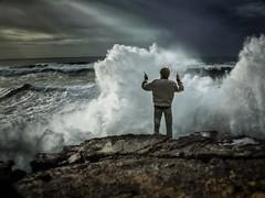 Sinfonie (Andrea Storch) Tags: dirigent nazaré wellen meer portugal