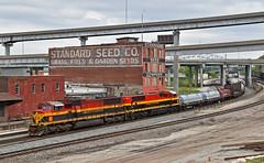 Westbound Transfer in Kansas City, MO (Grant Goertzen) Tags: kcs kansas city southern railway railroad locomotive train trains west westbound transfer yard job up union pacific missouri