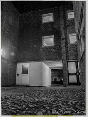 Day 121: Home Sweet Home- (Howie1967) Tags: street social housing black white town flat