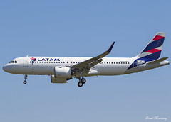 LATAM Airlines Brasil A320-200N F-WWBV (PR-XBC) (birrlad) Tags: toulouse tls international airport france aircraft aviation airplane airplanes airline airliner airlines airways arrival arriving approach finals landing runway test airtest airbus a320 a20n a320200n a320271n latam brasil fwwbv prxbc