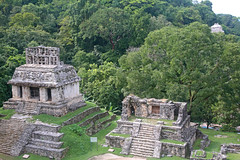 Two Temples Of Lakamha (peterkelly) Tags: digital canon 6d northamerica mexico gadventures mayandiscovery chiapas palenquenationalpark lakamha templeofthesun templexiv forest jungle green ruins stone maya mayan steps stairs