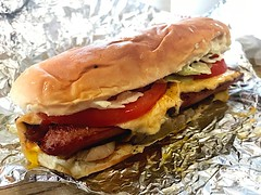 Five Guys Cheese Dog All The Way (_BuBBy_) Tags: 5 fiveguys hotdog hot way the all dog cheese guys five