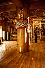 Big Timber, Tibetan House (Rod Waddington) Tags: china chinese yunnan shangrila tibetan house big timber wood wooden buddhist home woman worship alter tree trunk architecture interior design