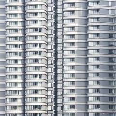 Straight curves (Arni J.M.) Tags: architecture buildings straightcurves balconies windows glass curves silver apartments albertembankment fosterpartners thecornichelondon thames london england uk