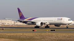 Boeing 777-3AL(ER) HS-TKO Thai Airways International (William Musculus) Tags: plane spotting aviation airplane fraport frankfurt am main rhein frankfurtmain airport flughafen fra eddf william musculus hstko thai airways international boeing 7773aler tha tg 777300er