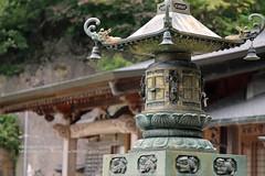 Yamagata, Risshaku-ji temple (blauepics) Tags: japan nippon island insel north norden yamagata prefecture prefektur honshu hill mountain berg nature natur tree baum green grün yamadera risshakuji temple tempel religion buddhism buddhismus architecture architektur detail