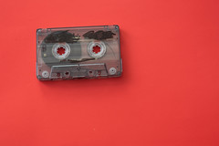 cassette tape isolated against red background (Rushay) Tags: backgrounds cassette vintage retro music sound tape portelizabeth southafrica