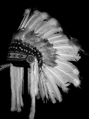 Native Head Dress ... (Mr. Happy Face - Peace :)) Tags: alberta canada archives vintage old pioneers discovery exploring history culture gallery resource art crafts native hunters firstnations 1910 black white bw art2019 cans2s