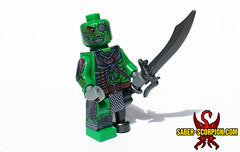 Commission: Scarred Orc (Saber-Scorpion) Tags: orc middleearth shadowofwar lotr lego minifigures minifig moc brickwarriors