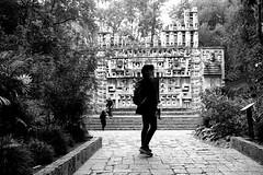 Mexico Jungle (Black-Brick) Tags: mexico maya trees culture history jungle black white portrait back totem