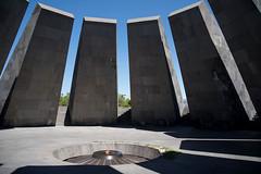 Shadows of War, the light of Peace (OzzRod (on the wallaby)) Tags: pentax k1 hdpentaxdfa28105mmf3556 war memorial eternal flame pillars design shadows yerevan armenia travel