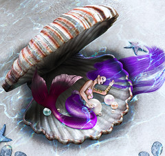 Ferosh Spring 2019: Siren's Requiem (Venus Germanotta) Tags: secondlife fashion fierce sickening ferosh magazine editorial spread mermaid beach ocean sea waves lights lighting perspective colour vibrant seashell aphrodite tail colorful theme sand water aquatic fantasy fantasea fabulous glamour glamorous beautiful beauty mythical mythology siren requiem safehaven lounge relax pose stunning photoshop graphicdesign design edit avantgarde moonamore fairytale pearls jewels aesthetic longhair purple purplehair style fashionista supermodel slay femmequeen starfish merwoman creature atlantis underwater digitalart vogue ethereal spells oceanic fashionmagazine artistic expression depth photography