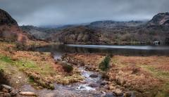 Llyn Dinas (paullangton) Tags: llyndinas dinas lake river pano wales snowdonia mist mountains trees water boathouse rocks flow canon lee reflection path landscape