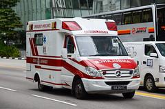 Singapore Civil Defence Force Mercedes-Benz Sprinter 515CDI Ambulance A113 (nighteye) Tags: singaporecivildefenceforce scdf mercedesbenz sprinter 515cdi ambulance a113 qx264c singapore