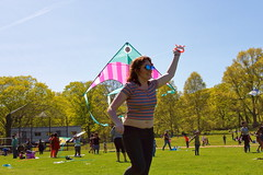 Beautiful and High 13 (Abbie Stoner) Tags: girl woman kite portrait redhead park outside