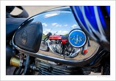 On reflection (G. Postlethwaite esq.) Tags: ajs british dof derbyshire heage honda400four unlimitedphotos bokeh classicbikes depthoffield motorbike motorcycle petroltank photoborder refection selectivefocus windmill