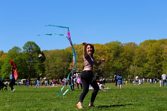 Beautiful and High 18 (Abbie Stoner) Tags: girl woman kite portrait redhead park outside