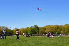 Beautiful and High 19 (Abbie Stoner) Tags: girl woman kite portrait redhead park outside