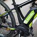Nahaufnhme des Akkus auf einem Elektro-Bike