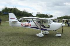 G-CIFA (IndiaEcho) Tags: gcifa aeropro eurofox eghp popham airport airfield light general civil aircraft aeroplane aviation canon eos 1000d basingstoke hampshire england