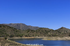 Embalse de Siurana (Las Fotos de Rafa Yanes) Tags: landscape nature sky background clouds environment fog forest mountain outdoor panorama panoramic peak range ridge rock siurana summer terrain trees vector view water