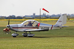 G-CCEM EV-97 TeamEurostar UK Oxenhope Flying Group EGCL Fenland VAC Vintage Aircraft Club  Fly-in 13-04-19 (PlanecrazyUK) Tags: egcl fenland vac vintageaircraftclub flyin 130419 holbeachstjohns fenlandairfield gccem ev97teameurostaruk oxenhopeflyinggroup vintage aircraft club