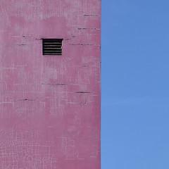 tib street (caeciliametella) Tags: lorrainekerr photography 2019 caeciliametella 11 square abstract astratto urbano urban pink rosa blue blu vent carpark tibstreet manchester flickr