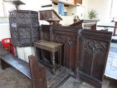 Ancient Woodwork, Walberswick (Aidan McRae Thomson) Tags: walberswick church suffolk medieval woodwork pulpit screen