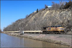 UP 5822 (Justin Hardecopf) Tags: up unionpacific 5822 ge c44accte ac4400cw slot train work mow 2019 flood detour benos councilbluffs iowa railroad