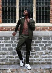 IMG_4695h (Defever Photography) Tags: blackmodel male model ghana belgium ghent portrait fashion adidas green