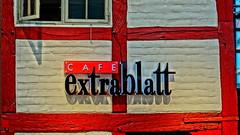 CAFÉ extrablatt (Steenjep) Tags: bygning building bindingsværk café hdr caféextrablatt flensburg flensburggalleri shoppingcenter