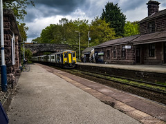 Delamere train station (garethendsor7771) Tags: train station northern people delamere chester woods forest photoshop adobe raw contrast panasonic g7 m43 moody old class