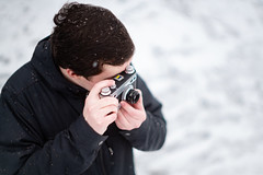 Agfa (Evan's Life Through The Lens) Tags: cold friend snow outdoors beautiful bright agfa edit portrait