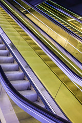Canary (marktmcn) Tags: canary wharf crossrail staion escalators elizabeth line london underground abstraction diagonals dsc rx100