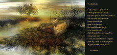 The last tide - art by Ladmilla, poem by Eli Medier (Ladmilla) Tags: art digitalart poetry poem landscape sl secondlife tide bird water trees sky clouds theedge theedgeartgallery gallery artgallery exhibition
