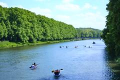 Elsterflutbett (Bokko.) Tags: summer summervibes summerweather river water leipzig street watersports fujix fujiprovia fujifilm