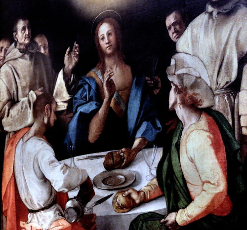 IMG_6290G Pontormo (Jacopo Carucci) 1494-1556. Florence.  Le repas d'Emmaüs.  The meal of Emmaus. 1525. Florence. Galerie des Offices.