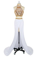White and Gold Two Piece Prom Dress, Long Evening Gown Shop Now   Prom Dress Hut (promdressesjvn) Tags: jovani prom dress pageant dresses sexy night gown uk