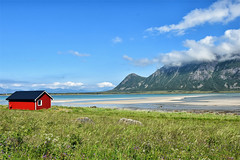 1842_red_cabin_near_the_fjord (Realmantis) Tags: cabin lofoten norway scape fjord mountain red