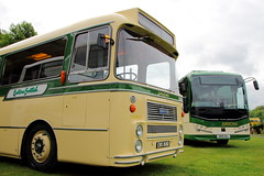 Eastern Scottish Green and Cream (Fraser Murdoch) Tags: lothian country buses eastern scottish omnibuses vintage bus museum svbm express bristol re ytype body bodied plaxton leopard volvo b8r new ews 168d ews168d sb19 gkl sb19gkl canon eos 650d transport vehicle fraser murdoch photography green cream coach coaches lathalmond dunfermline