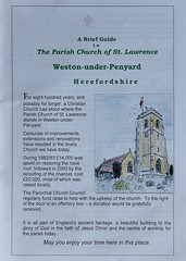 164-20180714_Weston under Penyard Church-Herefordshire-Church information leaflet-page 1 of 4 (Nick Kaye) Tags: westonunderpenyard herefordshire england church